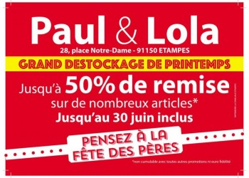 Destockage de printemps